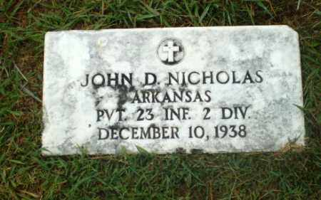 NICHOLAS  (VETERAN CSA), JOHN D. - Craighead County, Arkansas | JOHN D. NICHOLAS  (VETERAN CSA) - Arkansas Gravestone Photos