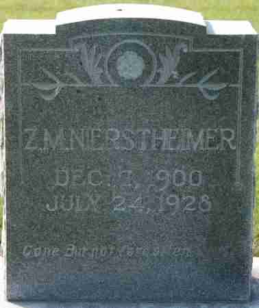 NIERSTHEIMER, Z. M. - Craighead County, Arkansas | Z. M. NIERSTHEIMER - Arkansas Gravestone Photos
