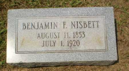 NISBETT, BENJAMIN F - Craighead County, Arkansas | BENJAMIN F NISBETT - Arkansas Gravestone Photos