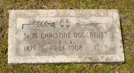 OGGENFUSS, SISTER M.CHRISTINE - Craighead County, Arkansas | SISTER M.CHRISTINE OGGENFUSS - Arkansas Gravestone Photos