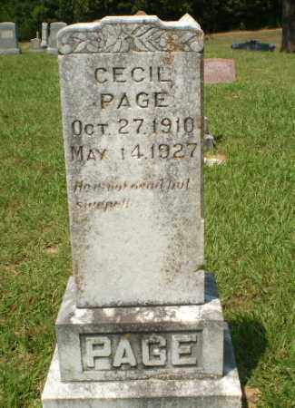 PAGE, CECIL - Craighead County, Arkansas | CECIL PAGE - Arkansas Gravestone Photos