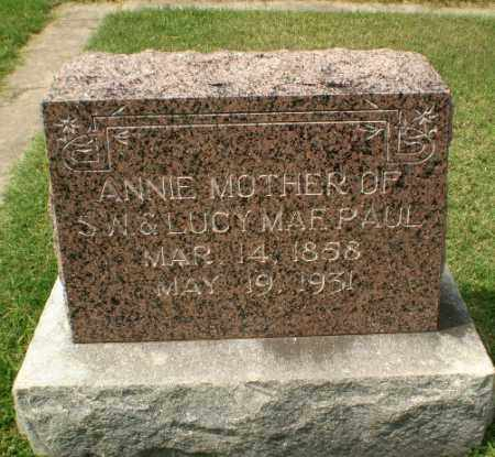 PAUL, ANNIE - Craighead County, Arkansas   ANNIE PAUL - Arkansas Gravestone Photos