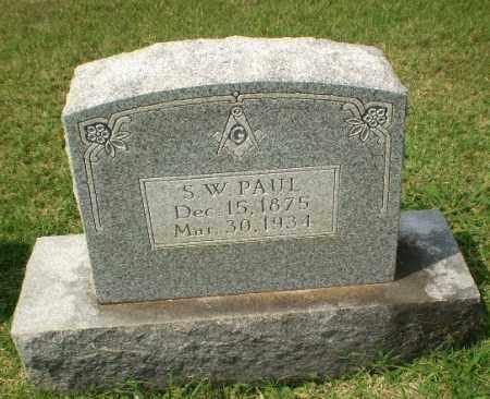 PAUL, S.W. - Craighead County, Arkansas   S.W. PAUL - Arkansas Gravestone Photos