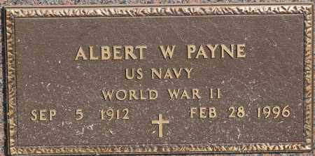 PAYNE  (VETERAN WWII), ALBERT W - Craighead County, Arkansas | ALBERT W PAYNE  (VETERAN WWII) - Arkansas Gravestone Photos