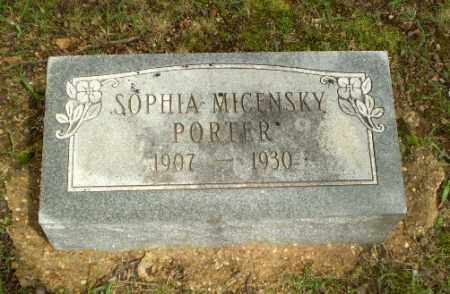 MICENSKY PORTER, SOPHIA - Craighead County, Arkansas | SOPHIA MICENSKY PORTER - Arkansas Gravestone Photos