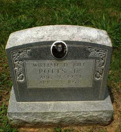 "POTTS, JR, WILLIAM D ""BILL"" - Craighead County, Arkansas | WILLIAM D ""BILL"" POTTS, JR - Arkansas Gravestone Photos"