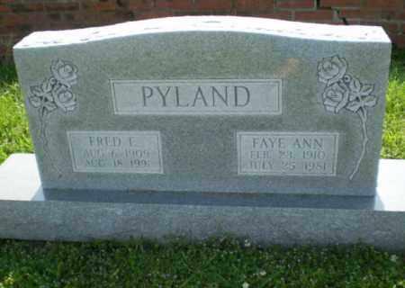 PYLAND, FAYE ANN - Craighead County, Arkansas | FAYE ANN PYLAND - Arkansas Gravestone Photos