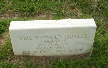QUALLS  (VETERAN WWII), VIRL EDWARD - Craighead County, Arkansas | VIRL EDWARD QUALLS  (VETERAN WWII) - Arkansas Gravestone Photos