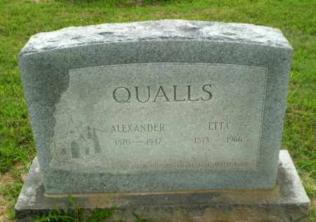 QUALLS, ALEXANDER - Craighead County, Arkansas | ALEXANDER QUALLS - Arkansas Gravestone Photos