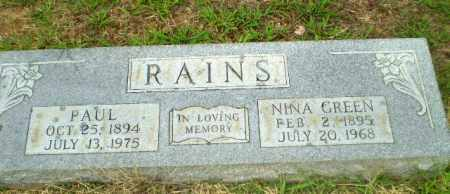 GREEN RAINS, NINA - Craighead County, Arkansas | NINA GREEN RAINS - Arkansas Gravestone Photos