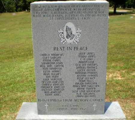 *REINTERMENT FROM MEMORY GARDE, MONUMENT - Craighead County, Arkansas | MONUMENT *REINTERMENT FROM MEMORY GARDE - Arkansas Gravestone Photos