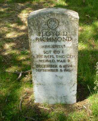 RICHMOND  (VETERAN WWI), FLOYD D. - Craighead County, Arkansas | FLOYD D. RICHMOND  (VETERAN WWI) - Arkansas Gravestone Photos