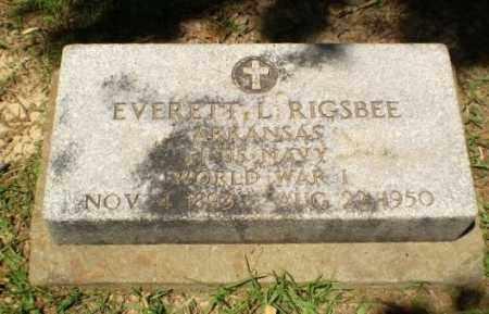 RIGSBEE (VETERAN WWI), EVERETT L. - Craighead County, Arkansas | EVERETT L. RIGSBEE (VETERAN WWI) - Arkansas Gravestone Photos