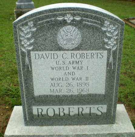 ROBERTS  (VETERAN 2 WARS), DAVID C. - Craighead County, Arkansas | DAVID C. ROBERTS  (VETERAN 2 WARS) - Arkansas Gravestone Photos