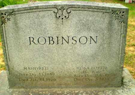 ROBINSON, MANDRED - Craighead County, Arkansas | MANDRED ROBINSON - Arkansas Gravestone Photos