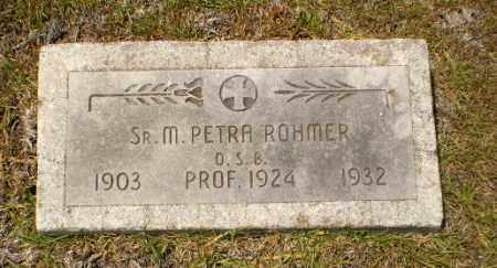 ROHMER, SISTER M. PETRA - Craighead County, Arkansas | SISTER M. PETRA ROHMER - Arkansas Gravestone Photos