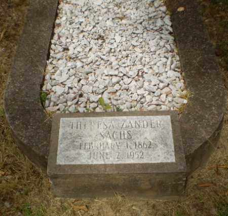 ZANDER SACHS, THERESA - Craighead County, Arkansas | THERESA ZANDER SACHS - Arkansas Gravestone Photos