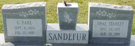 SANDEFUR, G. EARL - Craighead County, Arkansas | G. EARL SANDEFUR - Arkansas Gravestone Photos