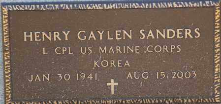 SANDERS  (VETERAN KOR), HENRY GAYLEN - Craighead County, Arkansas | HENRY GAYLEN SANDERS  (VETERAN KOR) - Arkansas Gravestone Photos