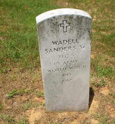 SANDERS  (VETERAN WWII), WADELL - Craighead County, Arkansas | WADELL SANDERS  (VETERAN WWII) - Arkansas Gravestone Photos