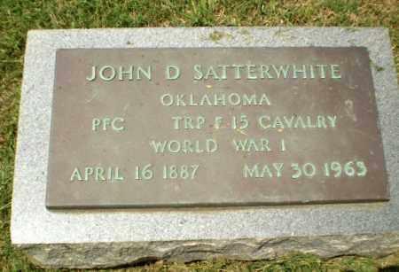 SATTERWHITE  (VETERAN WWI), JOHN D - Craighead County, Arkansas | JOHN D SATTERWHITE  (VETERAN WWI) - Arkansas Gravestone Photos
