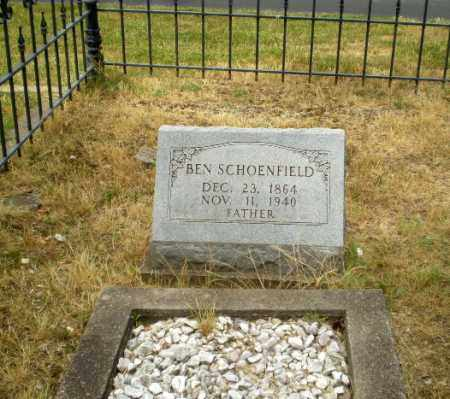 SCHOENFIELD, BEN - Craighead County, Arkansas | BEN SCHOENFIELD - Arkansas Gravestone Photos