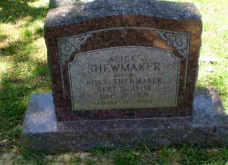 SHEWMAKER, ALICE - Craighead County, Arkansas | ALICE SHEWMAKER - Arkansas Gravestone Photos