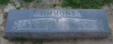SIMMONS, WILL - Craighead County, Arkansas | WILL SIMMONS - Arkansas Gravestone Photos