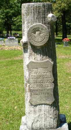 SIMPSON, W J - Craighead County, Arkansas | W J SIMPSON - Arkansas Gravestone Photos
