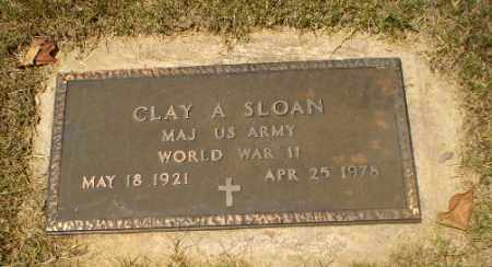 SLOAN  (VETERAN WWII), CLAY A - Craighead County, Arkansas | CLAY A SLOAN  (VETERAN WWII) - Arkansas Gravestone Photos