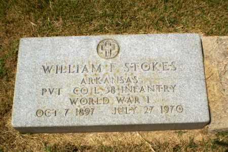 STOKES  (VETERAN WWI), WILLIAM F - Craighead County, Arkansas | WILLIAM F STOKES  (VETERAN WWI) - Arkansas Gravestone Photos