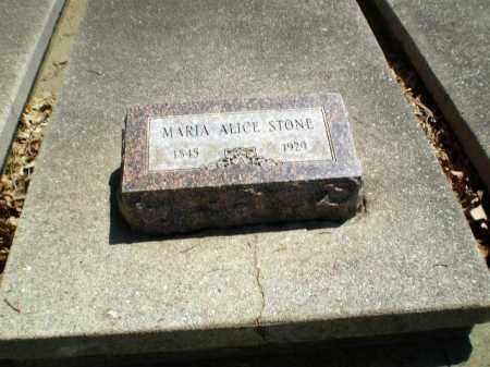 STONE, MARIA ALICE - Craighead County, Arkansas | MARIA ALICE STONE - Arkansas Gravestone Photos