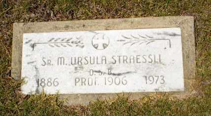 STRAESSLI, SISTER M. URSULA - Craighead County, Arkansas | SISTER M. URSULA STRAESSLI - Arkansas Gravestone Photos