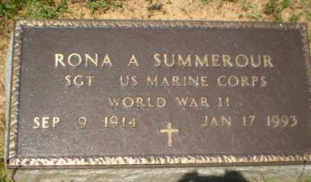 SUMMEROUR  (VETERAN WWII), RONA A - Craighead County, Arkansas | RONA A SUMMEROUR  (VETERAN WWII) - Arkansas Gravestone Photos