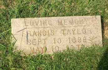 TAYLOR, FRANICS - Craighead County, Arkansas | FRANICS TAYLOR - Arkansas Gravestone Photos