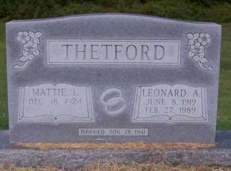 THETFORD, MATTIE L. - Craighead County, Arkansas | MATTIE L. THETFORD - Arkansas Gravestone Photos