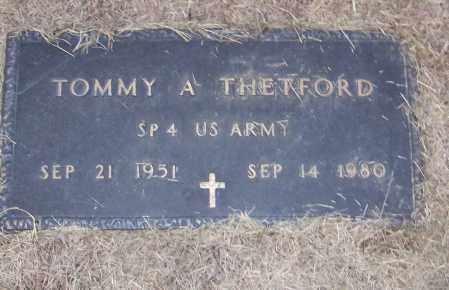THETFORD (VETERAN), TOMMY A - Craighead County, Arkansas | TOMMY A THETFORD (VETERAN) - Arkansas Gravestone Photos
