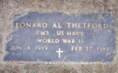 THETFORD (VETERAN WWII), LEONARD AL - Craighead County, Arkansas | LEONARD AL THETFORD (VETERAN WWII) - Arkansas Gravestone Photos