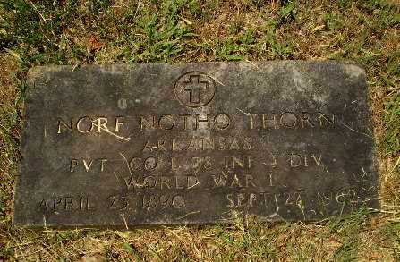 THORN  (VETERAN WWI), NORF NOTHO - Craighead County, Arkansas | NORF NOTHO THORN  (VETERAN WWI) - Arkansas Gravestone Photos