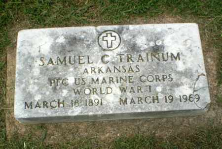 TRAINUM  (VETERAN WWI), SAMUEL - Craighead County, Arkansas | SAMUEL TRAINUM  (VETERAN WWI) - Arkansas Gravestone Photos