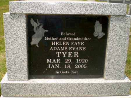 ADAMS TYER, HELEN FAYE - Craighead County, Arkansas | HELEN FAYE ADAMS TYER - Arkansas Gravestone Photos