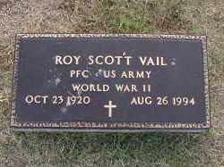 VAIL (VETERAN WWII), ROY SCOTT - Craighead County, Arkansas | ROY SCOTT VAIL (VETERAN WWII) - Arkansas Gravestone Photos