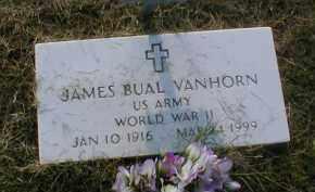 VANHORN (VETERAN WWII), JAMES BUAL - Craighead County, Arkansas | JAMES BUAL VANHORN (VETERAN WWII) - Arkansas Gravestone Photos