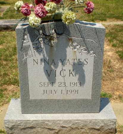 YATES VICK, NINA - Craighead County, Arkansas | NINA YATES VICK - Arkansas Gravestone Photos