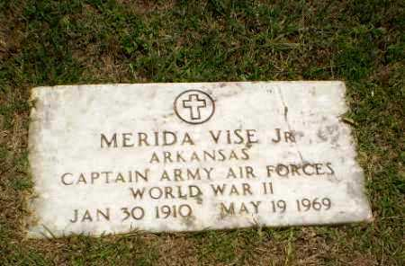 VISE, JR (VETERAN WWII), MERIDA - Craighead County, Arkansas | MERIDA VISE, JR (VETERAN WWII) - Arkansas Gravestone Photos