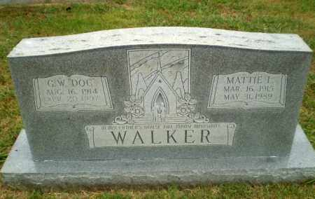 WALKER, MATTIE I - Craighead County, Arkansas | MATTIE I WALKER - Arkansas Gravestone Photos