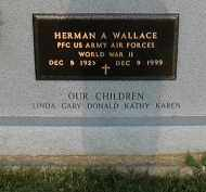 WALLACE (VETERAN WWII), HERMAN A. - Craighead County, Arkansas | HERMAN A. WALLACE (VETERAN WWII) - Arkansas Gravestone Photos