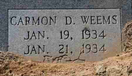 WEEMS, CARMON D - Craighead County, Arkansas | CARMON D WEEMS - Arkansas Gravestone Photos