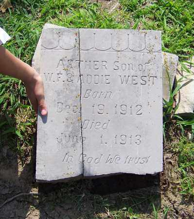 WEST, ARTHER - Craighead County, Arkansas | ARTHER WEST - Arkansas Gravestone Photos