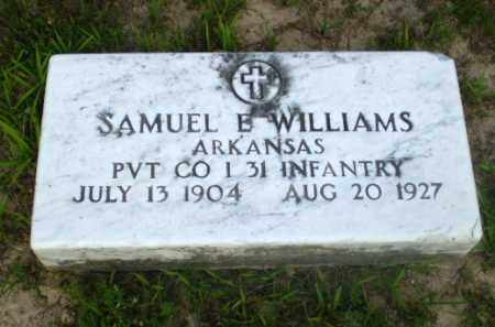WILLIAMS  (VETERAN), SAMUEL E - Craighead County, Arkansas | SAMUEL E WILLIAMS  (VETERAN) - Arkansas Gravestone Photos